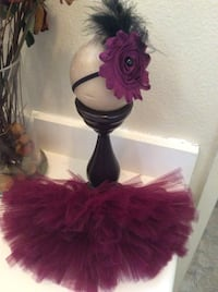 Baby girl tutu with headband size 0-3 months/ purple color Los Angeles, 91406