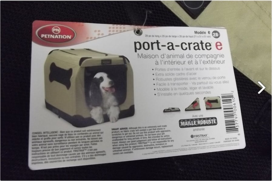 NEW Soft but rugged dog carrier- $98 NOW REDUCED TO $80!!! 9ef63865-33dc-4aaa-a870-440c09e45549