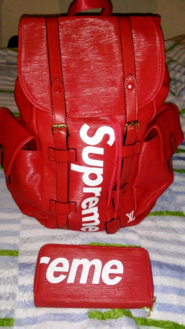 bae9bb37 Used red and white Supreme baseball mitt for sale in Bayonne - letgo