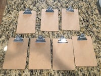Set of 7 Clipboards