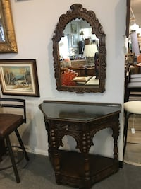 Antique Oak Hall Table and Mirror  London, N5X 2J1