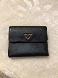 AUTHENTIC PRADA Saffiano trifold leather wallet