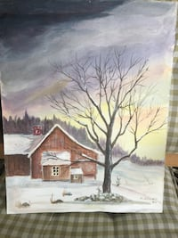 "Winter 15 1/4"" x 12"" water color Marrero"