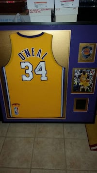 yellow and blue Los Angeles Lakers O'Neal 34 jerse Cathedral City, 92234
