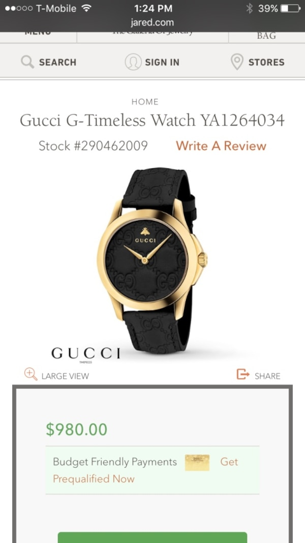 c479180d07d Used Gucci timeless watch for sale in Union - letgo