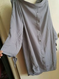 women's gray button up dress Vaughan, L4H 2L3