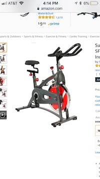 New sunny health and fitness sf-b1423 belt drive indoor cycling bike Columbus, 43016