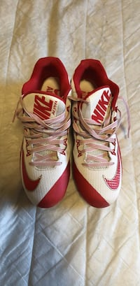 Nike football cleats, size 10