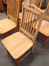 two brown wooden armless chairs Chicago, 60626