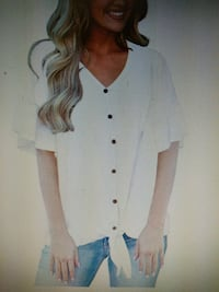 Woman s button down casual top