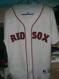 white and red Boston Red Sox jersey shirt Brownsville, 78520