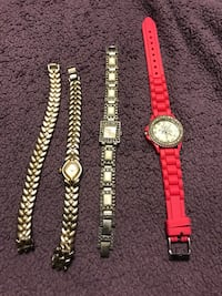 Four analog watches with link bracelet Arlington, 76016