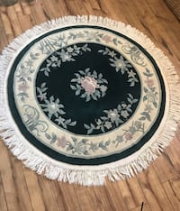 Round white and green rug Phoenix, 85053