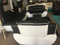 Bonded leather sofa, love seat, and chair. Brand new. Farmers Branch, 75234