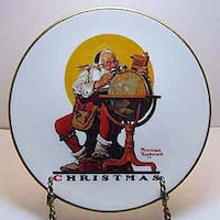 """Norman Rockwell """"Planning Christmas Visits"""" Plate Lacombe"""