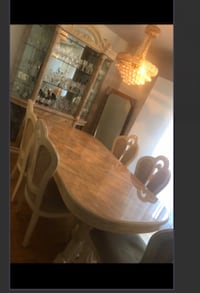 brown wooden dining table set Toronto