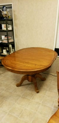 Solid wood dining room table 42 inch round with le Whitehouse, 75791