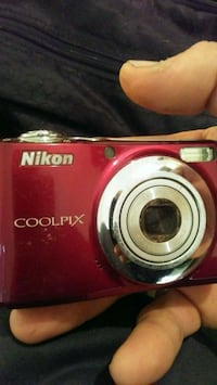 red Nikon Coolpix point-and-shoot camera Melbourne, 32935