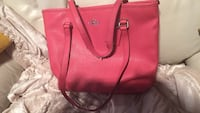 red Michael Kors leather tote bag Роли, 27612