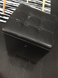tufted square black leather ottoman Calgary, T3J 2N2
