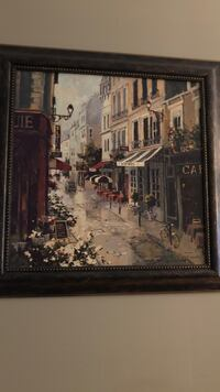 brown wooden framed painting of house Innisfil, L9S