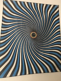 Optical illusion tapestry Manassas, 20110