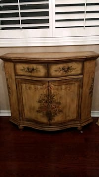 Wooden buffet cabinet hand painted