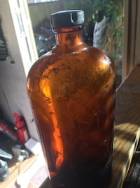 Old Brown  glass bottle