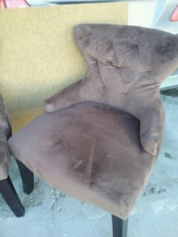 Accent chairs 75 each Choclate brown