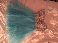 blue/rhinestone formal dress