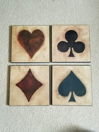 four playing card wall plaques Edmonton, T6X 1K1
