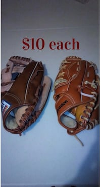 BASEBALL GLOVES (Kids Size Age 10 years and up) Brampton, L7A