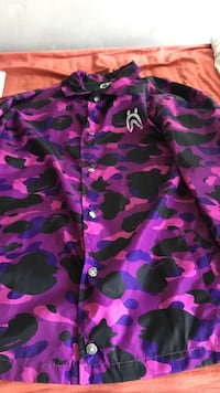 Purple bape jacket