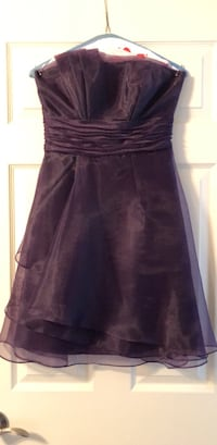 strapless purple homecoming/bridesmaid dress size 2 Woodbridge, 22193
