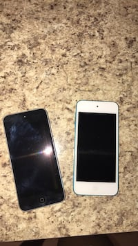two 5th generation blue and black iPod touch's 14 mi