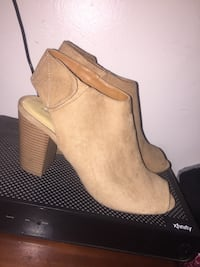 Pair Of Chinese Laundry  Tan Peep Toe Booties Riverdale, 93656