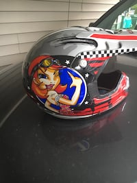 Red, blue, and white full-face helmet Peachland, V0H 1X5