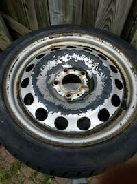 gray 5-lug car wheel with tire Toronto, M9N 2H7