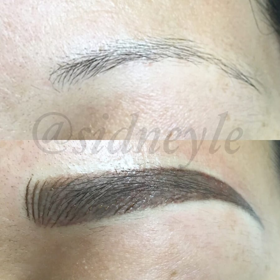 Eyebrow pencil collage