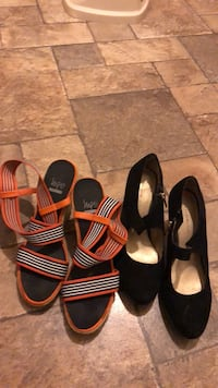 two pairs of black and brown sandals Washington, 20017