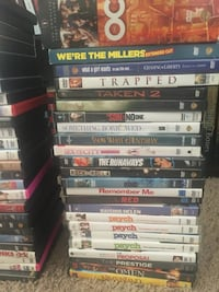 Tons of DVDs I'm getting rid of. I just want to declutter my place. I'm selling these movies from .25 cents to $5 Spring, 77380