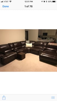 American Signature Furniture St. Malo 6-Piece Power Reclining Sectional with Chaise plus 2 matching Recliners 530 mi