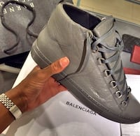 pair of gray suede low-top sneakers Trenton, 08609