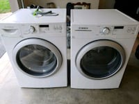 BOSCH front-load washer and dryer set 75 mi