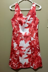 Red and white floral dress Vancouver, V6P 4C7