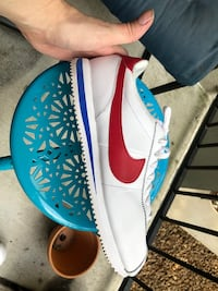 pair of white-and-blue Nike sneakers Houston, 77007