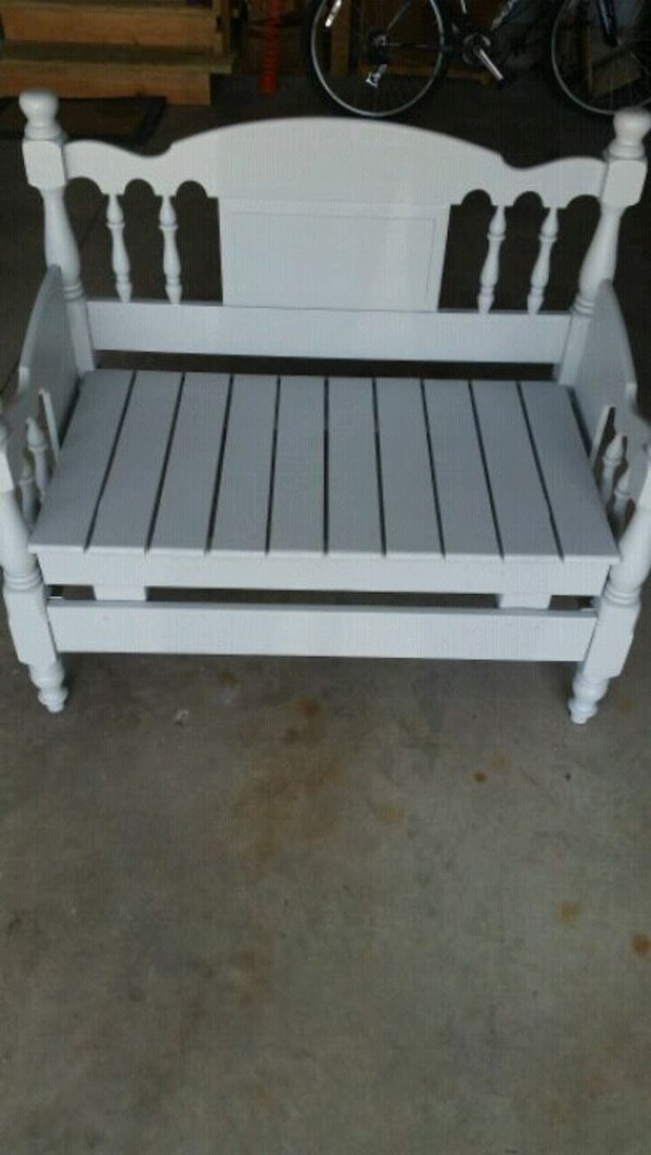 Super Bench Made From Bed Frame Grey Gamerscity Chair Design For Home Gamerscityorg