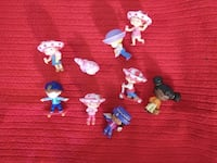 Vintage&present Strawberry Shortcake Miniatures Figures/ accessories lot of 9 Olney
