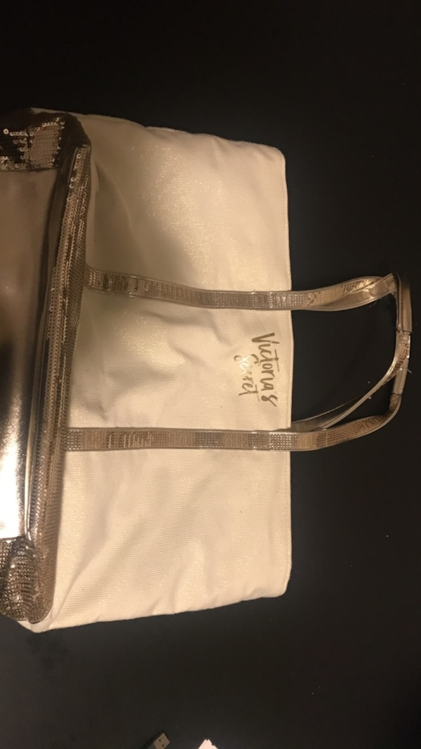 bd64d533df56 Used white and gray Victoria's Secret tote bag for sale in Stephenville ...