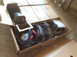 4 cameras with cables